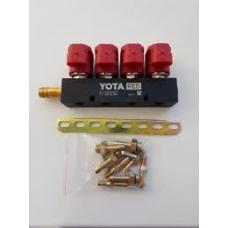 Форсунки YOTA RED 4 цил. 2 Oм,с жеклерами, и со штуцерами в коллектор